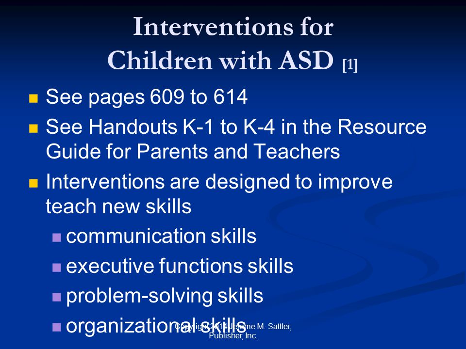 Interventions for Children with ASD [1]